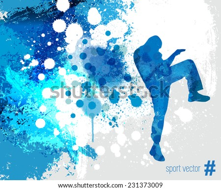 Sport. Karate illustartion  - stock vector