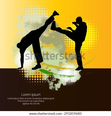 Sport. Karate illustartion - stock vector