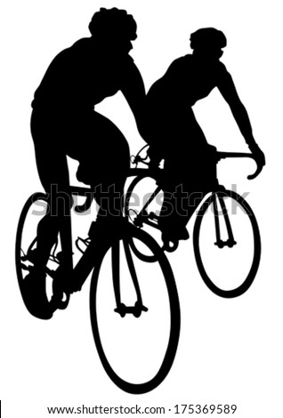 Sport man of cyclists at competitive - stock vector