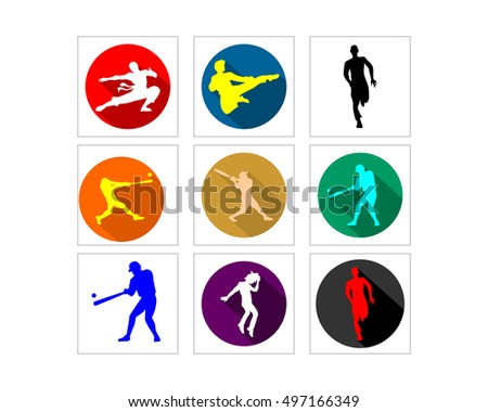 sport man silhouette icon