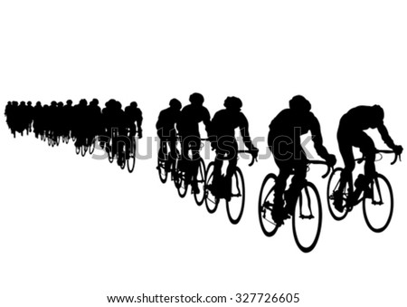 Sport man whit bike on white background - stock vector