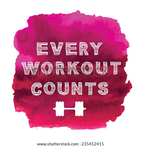 Sport motivation quote. - stock vector