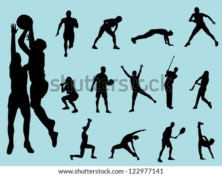 Sport people silhouette
