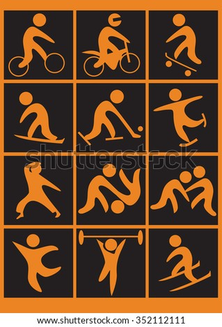 sport pictogram set