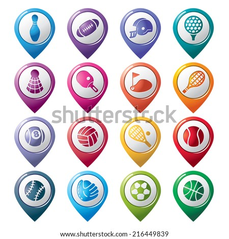 Sport Pointer Icons - stock vector