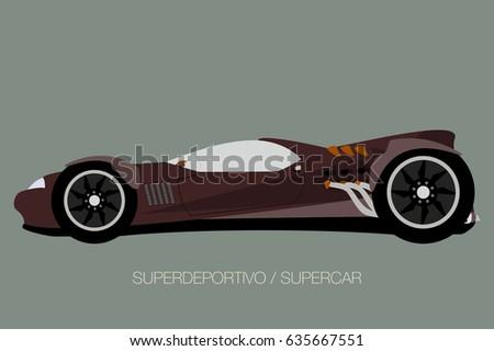 Vector Hot Rod Side View Car Stock Vector Shutterstock