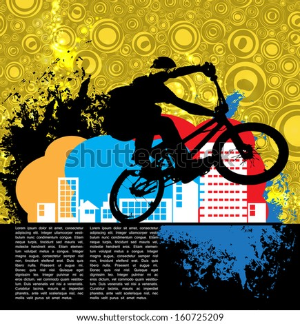 Sport. Road bike rider. Vector - stock vector