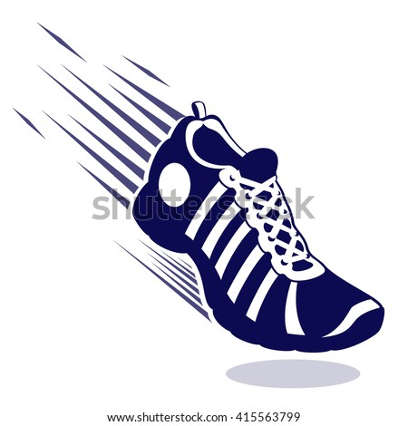 Running Shoes With Wings Vector