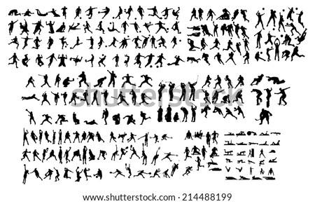 Sport Silhouette - stock vector