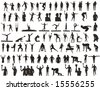 sport silhouettes collection of olympic games - stock vector