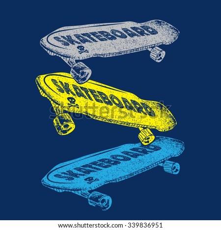Sport skate board typography, t-shirt graphics, vectors - stock vector