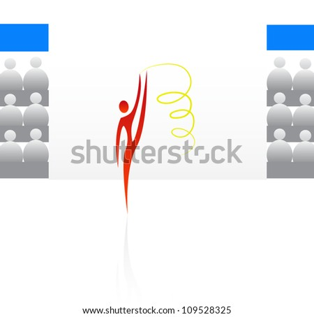 Sport symbols for design such a logo - stock vector
