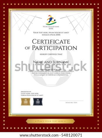 Football Certificate Stockbilder Und Bilder Und Vektorgrafiken
