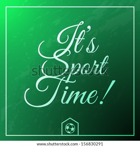 sport time vintage greeting card - stock vector