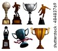 Sport Trophies - stock photo