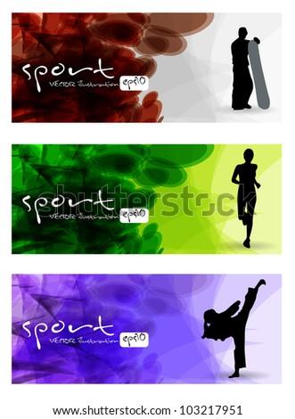 Sport vector banner - stock vector