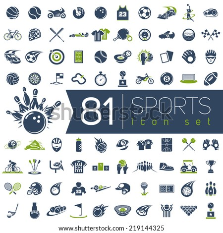 Sport vector icons for web and mobile. - stock vector