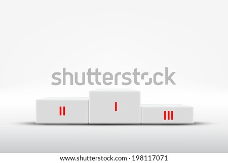 Sport winners podium - stock vector