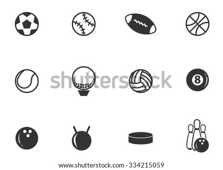 Sports Balls symbol for web icons