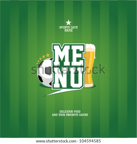 Sports Bar Menu card design template. - stock vector
