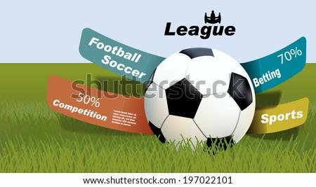 sports betting statistics, football betting leagues - stock vector