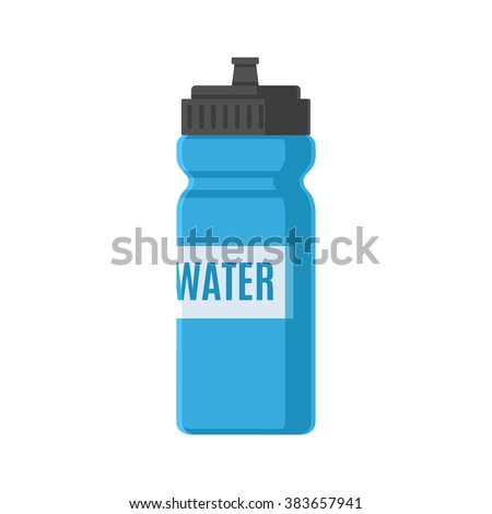 Sports bottle hydro flask water - stock vector