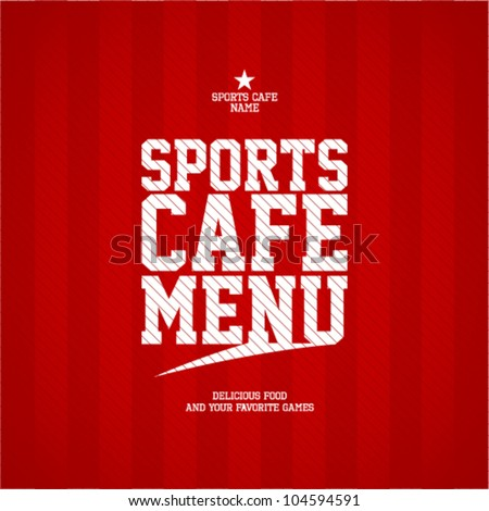 Sports Cafe Menu card design template. - stock vector