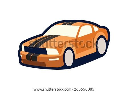 sports car - stock vector