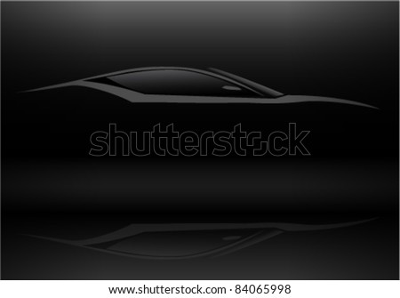 Sports Car Silhouette - stock vector