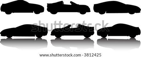 Sports Car Silhouettes - stock vector