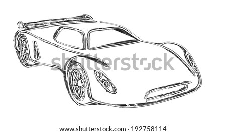 Sports Car Sketch.Own Design. For 3d Render See Image Id 140440432