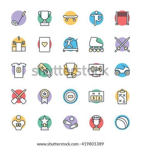 Sports Cool Vector Icons 5 - stock vector