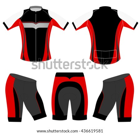 Sports cycling vest t-shirt vector design on a white background