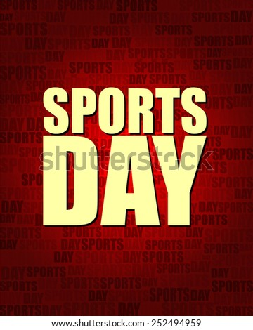 Sports Day with same text on red gradient background.