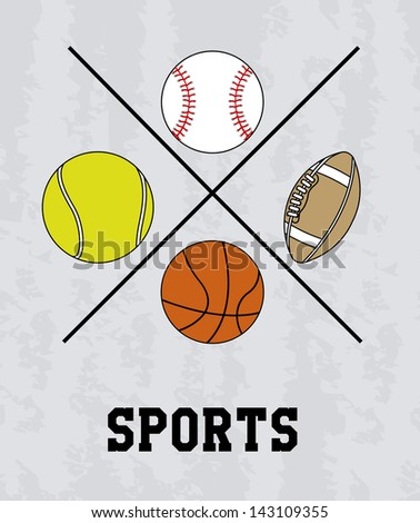 sports design over gray background vector illustration