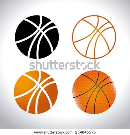 Sports design over white background, vector illustration - stock vector