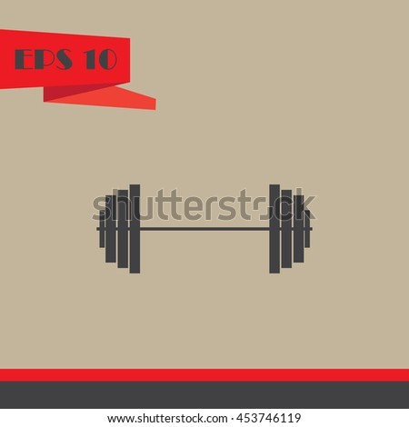 Sports dumbbells vector icon