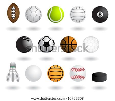 Sports equipment - stock vector