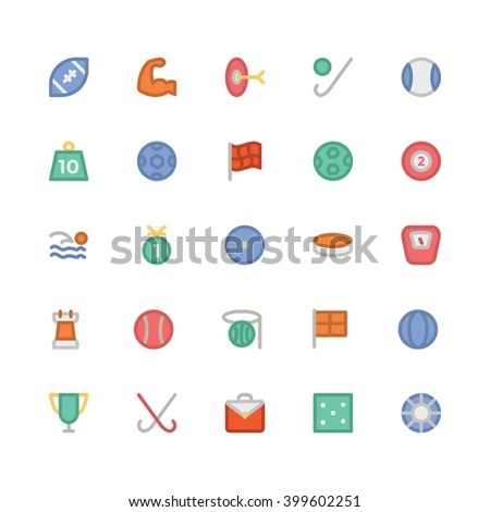 Sports flat bold vector icon  4