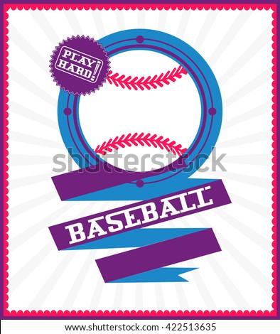 Sports games. Sport ball. Baseball poster - stock vector