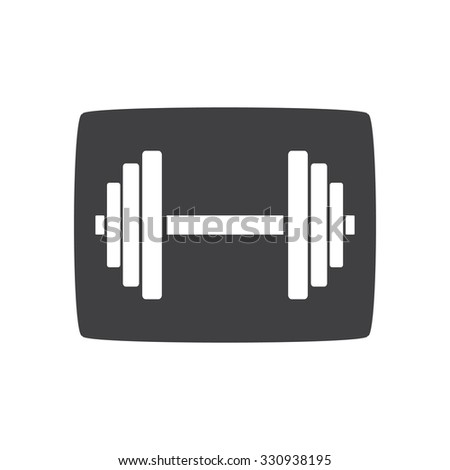 Sports gym equipment. Dumbbell - Vector icon isolated. gray icon. - stock vector