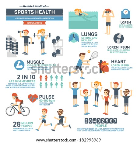 Sports Health Infographics  - stock vector