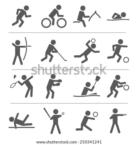 Sports icon set - stock vector