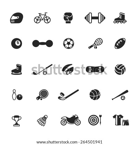 Sports Icons - stock vector