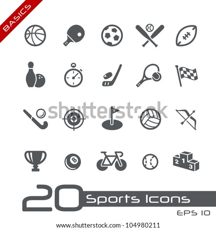 Sports Icons // Basics - stock vector