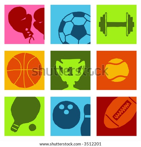 Sports icons - others of same series : http://www.shutterstock.com/lightboxes.mhtml?lightbox_id=499012