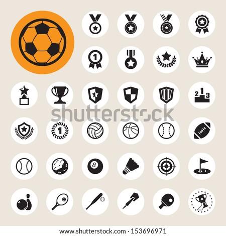 Sports Icons set.Illustration EPS10 - stock vector