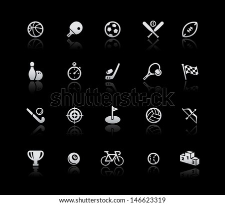 Sports Icons // Silver Series - stock vector