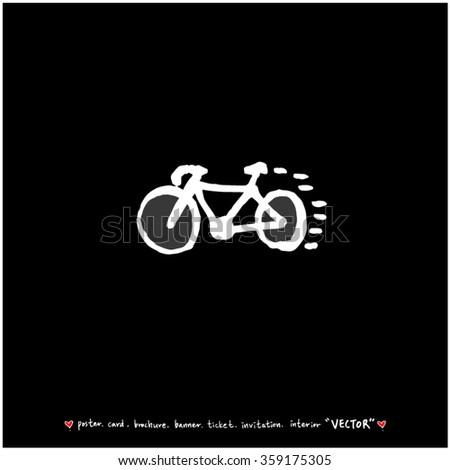 Sports illustration - vector / sport poster background - blackboard version - stock vector
