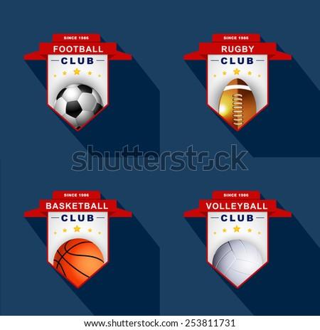 Sports labels,badge,emblem  - stock vector